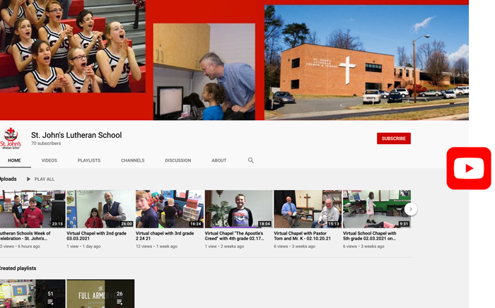 St. Johns Lutheran School YouTube Page